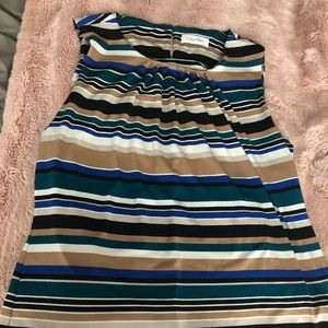 Calvin Klein Striped sleeveless blouse